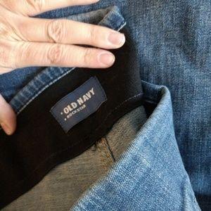 Dark Rinse Pull On Bootcut Jeans Plus